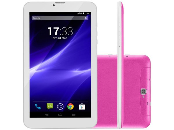 "Tablet Multilaser M9 8GB 9"" 3G Wi-Fi - Android 5.1 Proc. Quad Core Câmera Integrada"