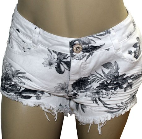 Shorts Sarja Feminino Summer Branco Grouper