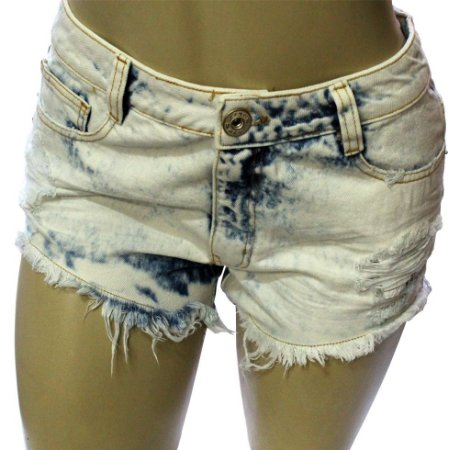 Shorts Jeans Feminino Destroyed Grouper