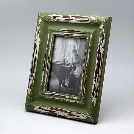 Porta-retrato em madeira rústica decoração tipo antiquário - Grouper