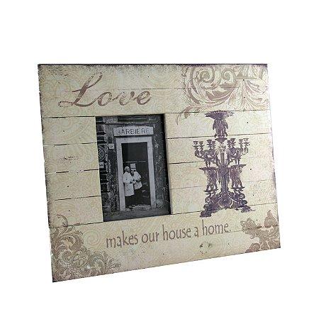 Porta-retrato Love antique decorado - Grouper