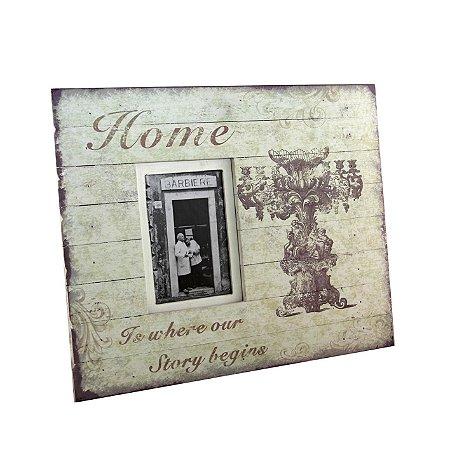 Porta-retrato Home antique decorado - Grouper