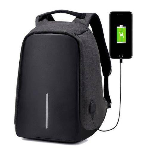 Mochila USB Anti Roubo Furto Com Notebook Laptop Carregador (9008#) - Pinao