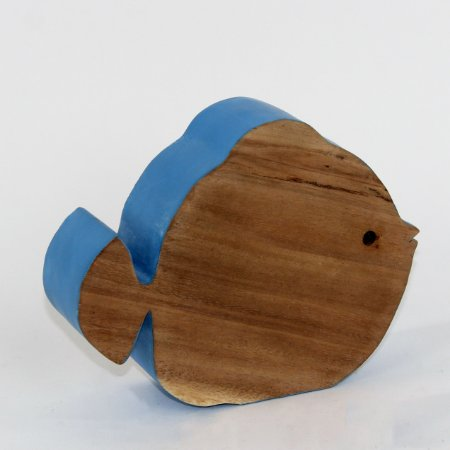 Peixe Decorativo em madeira rústica 19Cm - Grouper