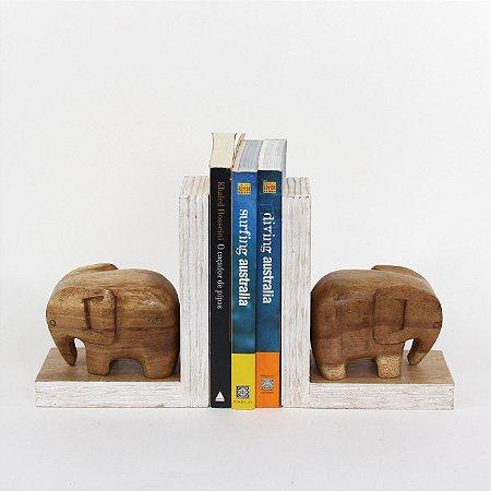 Apara Livro Elefante 20 Cm Cj(2)