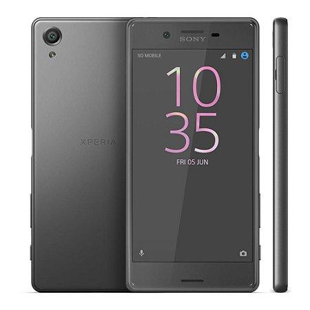"Smartphone Sony Xperia X F5121 Preto 32GB Tela 5"" Câmera 23MP 4G Android 6.0 3GB RAM Processador Hexa-Core"