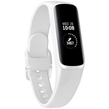 Smartband Samsung Galaxy Fit E Pulseira de Silicone Monitor Cardíaco - Branco