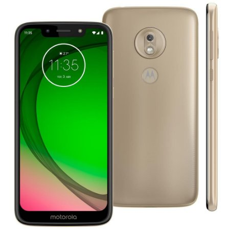 "Smartphone Motorola Moto G7 Play Ouro XT1952 32GB, Tela de 5,7"", 2GB de RAM, Dual Chip, Android 9.0,13MP Octa Core"