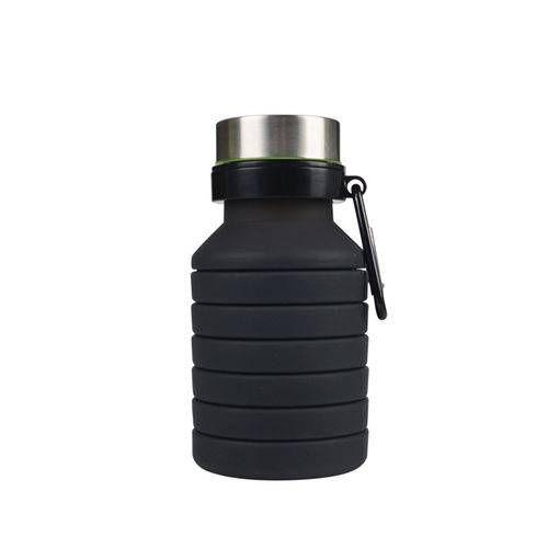 Garrafa De Água Dobrável De Silicone Reutilizável Ginásio Fitness Formação Bebida G