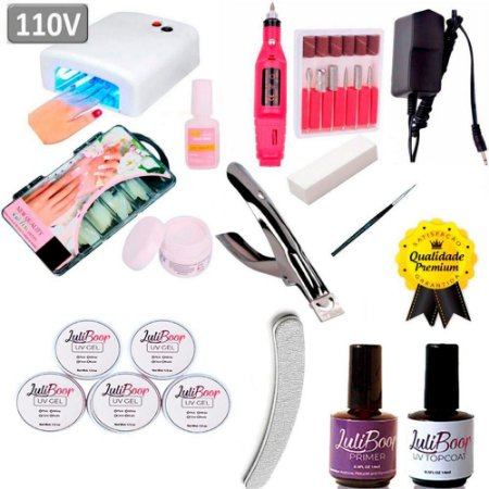 Kit Unha Gel Acrigel + Cabine + Lixa + Kit Gel Acrygel D&Z.