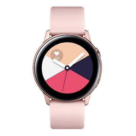"""Smartwatch Samsung Galaxy Watch Active Rosé com Tela Super Amoled de 1.1"""", Bluetooth, Wi-Fi, GPS, e Frequência Cardíaca."""