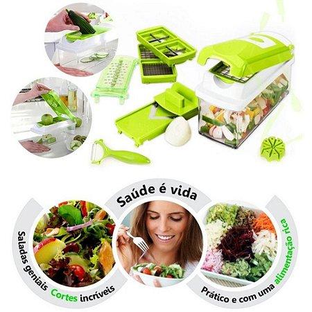 Nicer Dicer Plus - Cortador e Fatiador de Legumes, Frutas e Verduras - Verde