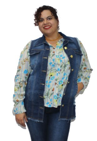 Colete Maxy Jeans SEATTLE - Oversize plus size