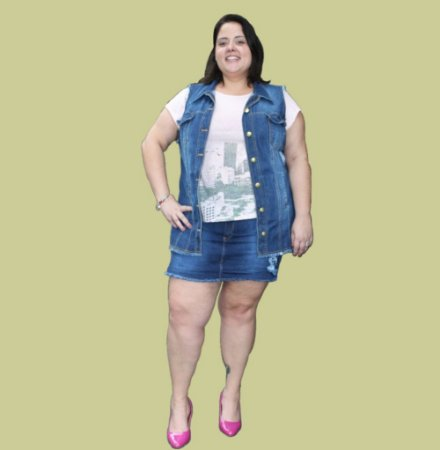 Short-Saia Jeans com elastano GIRLPOWER
