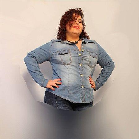 Camisa Jeans Clara Delos com elastano