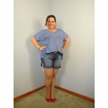 Shorts Jeans BRAN com rasgadinhos plus size