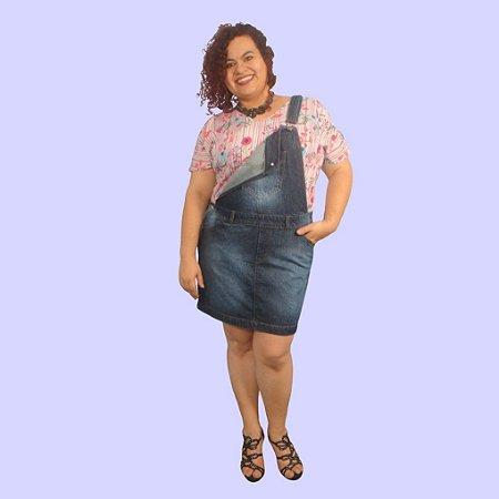Jardineira Saia Jeans MISS SPRING