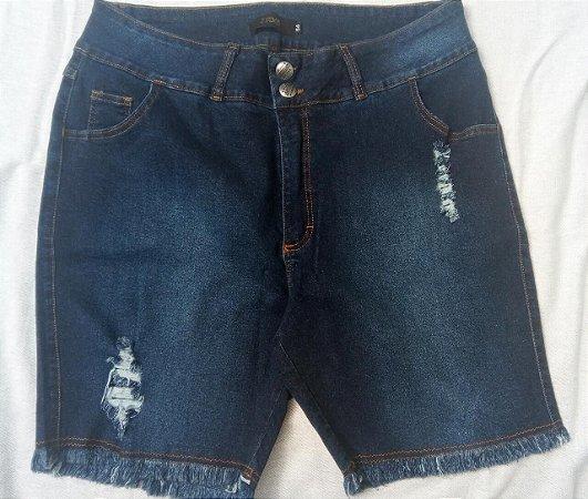 Bermuda Jeans Plus Size com Elastano LION