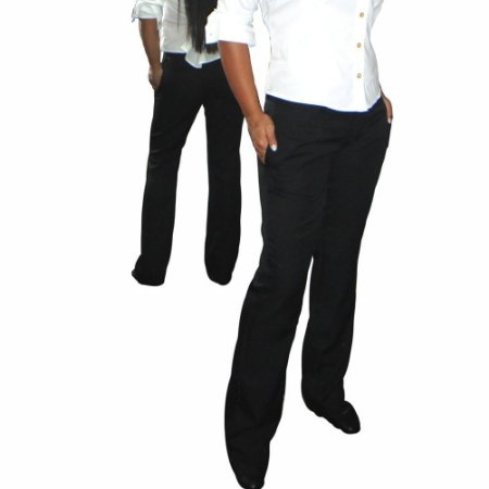 Calça Social Feminina Preta Elegance Slim& Plus Size