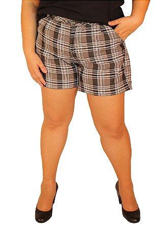 5118102251 Shorts Alfaiataria CHESS Xadrez Preto