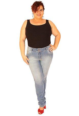 Calça Skinny True e-motion Plus size do 46 ao 58 Jeans Claro - Jules