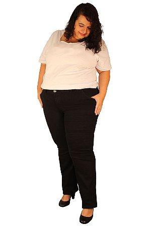 Calça Skinny Jeans Strech TRINITY - Black Jeans