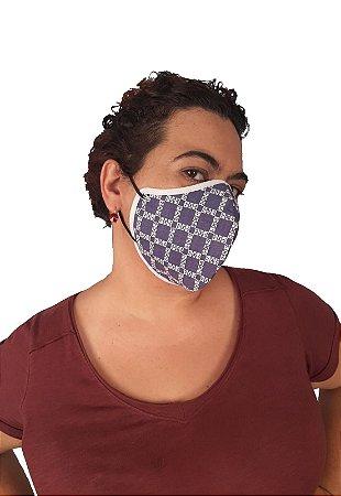 Máscara de tecido de algodão pacote de 3 unidades cores e estampas variadas