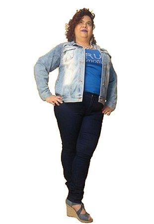 Calça Skinny Jeans strech azul intenso KIDMAN Tam 42 e 44
