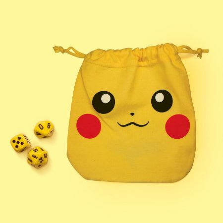 Saco para Dados - Pikachu c/ Desenho nas Costas