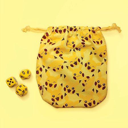 Saco para Dados - Pikachu - Amarelo