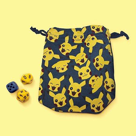 Saco para Dados - Pikachu - Azul