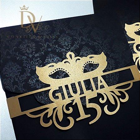 Convite Baile de Mascaras cod. 001