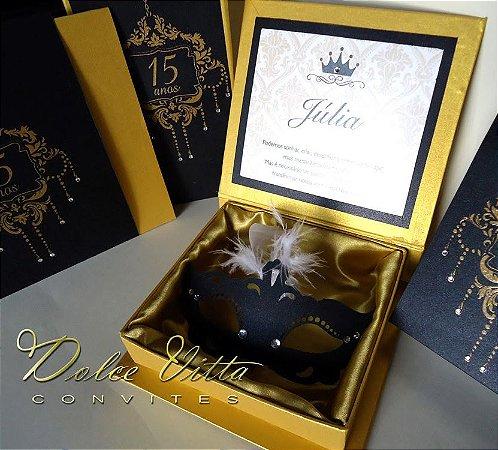 Convite Caixa Mascara