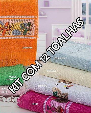Toalhas Social Transfer - Kit com 12