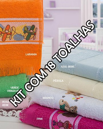 Toalhas Social Transfer - Kit com 18