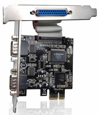 PLACA MULTI-SERIAL COMTAC PCI-E  - 2 SERIAIS E 01 PARALELA