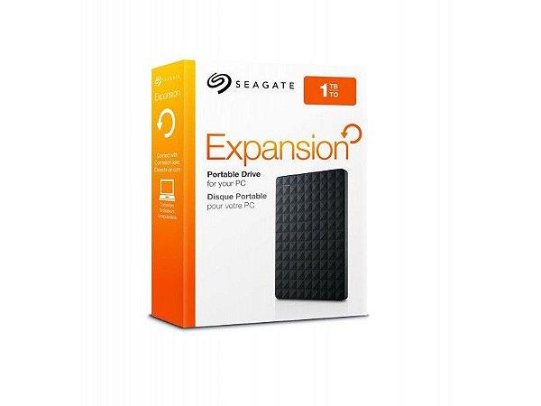 HD Seagate Externo Portátil Expansion USB 3.0 1TB Preto - STEA1000400
