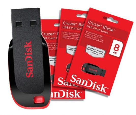 Pen Drive SANDISK 8GB CruzerBlade USB2.0