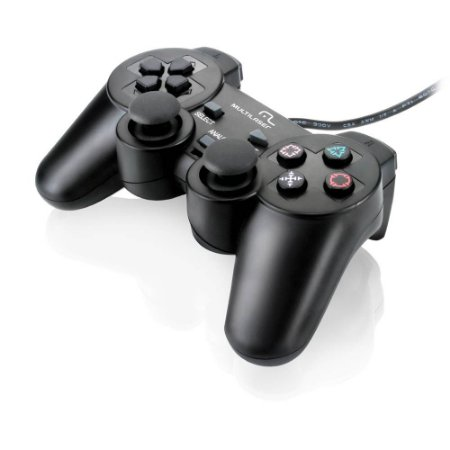 Controle MULTILASER DUALSOCK PLAYSTATION 2  - JS043