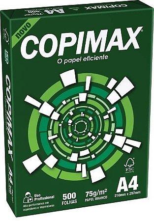 Papel Sulfite A4 210 X 297mm 75g/M² Pacote 500 Folhas Copimax