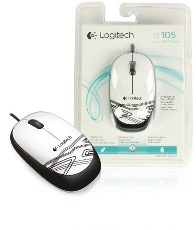 Mouse LOGITECH C/ FIO M105 1000 DPI BRANCO