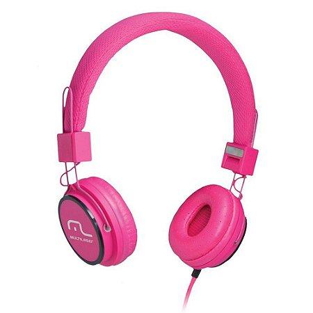 Fone de Ouvido Multilaser com Microfone Headfun Rosa P2 - PH088