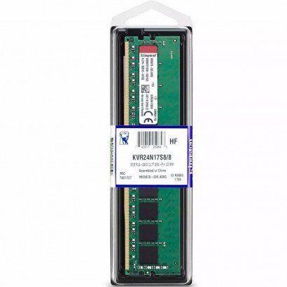Memória RAM Kingston 8GB DDR4 2400MHz CL17 KVR24N17S8/8