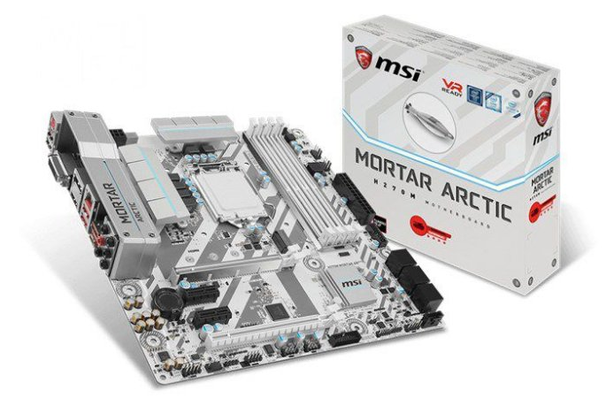 Placa Mãe MSI H270m Mortar Arctic, Lga 1151 Chipset Intel H270