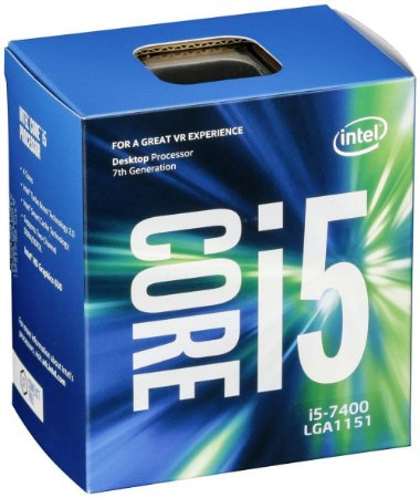 Processador Intel Core i5-7400 7º Geração LGA 1151 Kaby Lake, Cache 6MB, 3.0Ghz (3.5GHz Max Turbo), Intel HD Graphics BX80677I57400