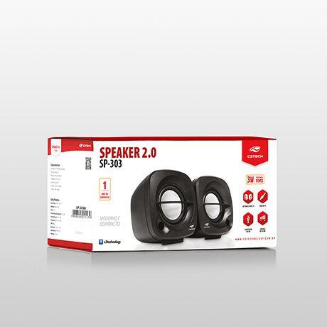 Caixa de Som C3Tech Portátil 2.0 Preta SP-303BK