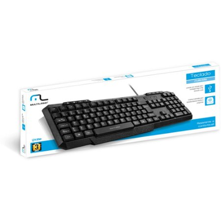 Teclado Multimídia Usb Preto Multilaser- Tc206