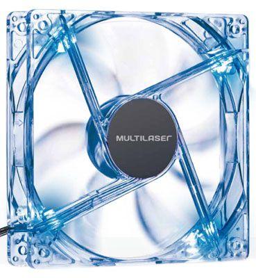 Cooler Fan com LED Azul 12x12cm 1300RPM GA135 - Multilaser
