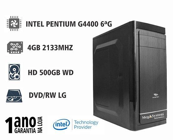 CPU MEGA BASIC PENTIUM G4400 3MB 3.3GHZ / 4GB DDR4 2133MHZ / 500GB / DVD-RW