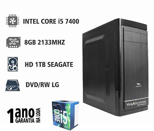 CPU MEGA EXPERT i5 7400 6.0MB 3GHZ / 8GB DDR4 2133MHZ / 1TB / DVD-RW